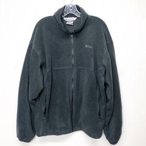 Columbia Men's Black Fleece Zip Front Jacket